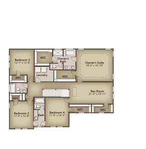 Chesapeake Homes -  The Violet Basement Second Floor