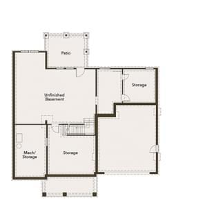 Chesapeake Homes -  The Violet Basement Basement