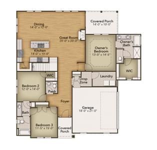 Chesapeake Homes -  The Viola First Floor