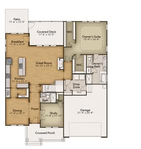 Chesapeake Homes -  The Lilac First Floor