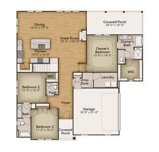 Chesapeake Homes -  2856 Kingsfield Drive, Virginia Beach, VA 23456 First Floor