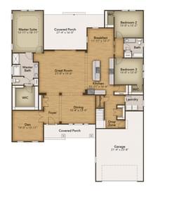 Chesapeake Homes -  The Gardenia First Floor