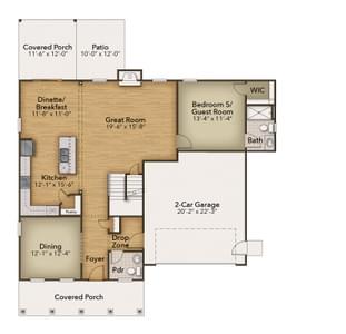 Chesapeake Homes -  142 Preserve Way, Suffolk, VA 23434 First Floor