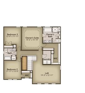 Chesapeake Homes -  140 Preserve Way, Suffolk, VA 23434 Second Floor