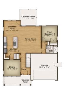 Chesapeake Homes -  140 Preserve Way, Suffolk, VA 23434 First Floor