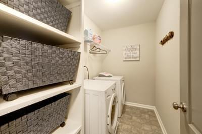 Chesapeake Homes -  The Everest Laundry Room