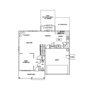 Chesapeake Homes -  The Hawthorn First Floor