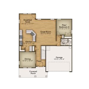Chesapeake Homes -  The Persimmon First Floor