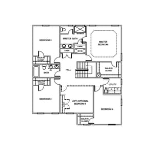 Chesapeake Homes -  The Ivy Second Floor