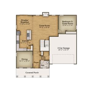 Chesapeake Homes -  The Azalea First Floor