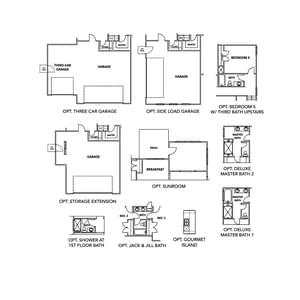 Chesapeake Homes -  The Sandalwood Options