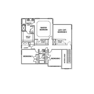 Chesapeake Homes -  The Sandalwood Second Floor