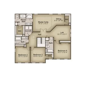 Chesapeake Homes -  The Azalea Second Floor