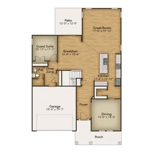 Chesapeake Homes -  The Everest First Floor