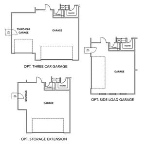Chesapeake Homes -  The Sandalwood Garage Options