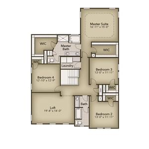 Chesapeake Homes -  The Everest Second Floor