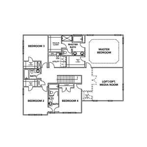 Chesapeake Homes -  The Roseleigh Second Floor