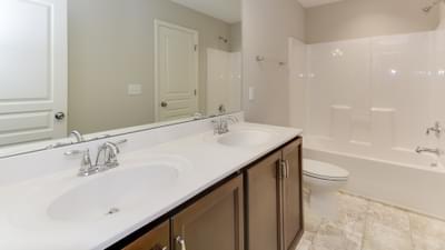 Chesapeake Homes -  The Melody Upstairs Hall Bath