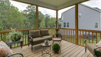 Chesapeake Homes -  The Concerto Basement Rear Covered Porch