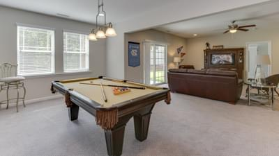 Chesapeake Homes -  The Concerto Basement Basement Rec Room