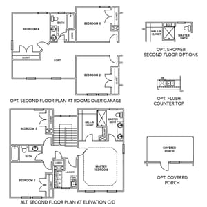 Chesapeake Homes -  The Rhapsody Basement Options