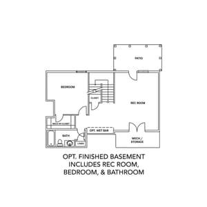 Chesapeake Homes -  The Rhapsody Basement Optional Finished Basement