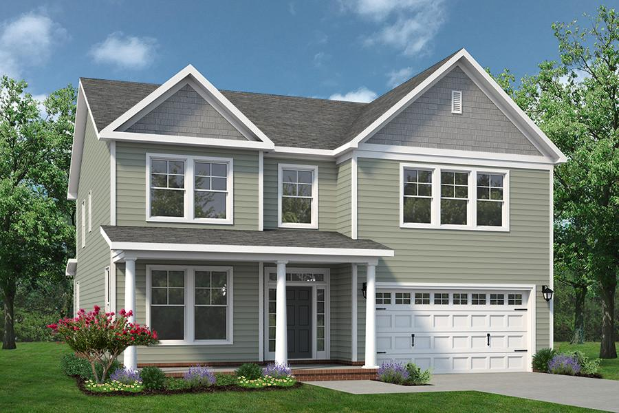 Chesapeake Homes -  The Persimmon Elevation D