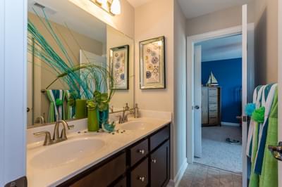 Chesapeake Homes -  The Aria Upstairs Hall Bath