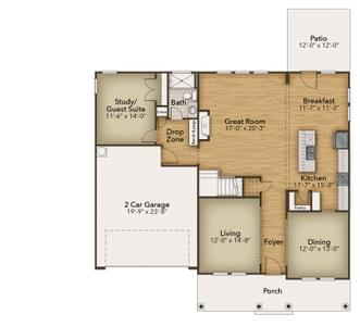 Chesapeake Homes -  The Harmony First Floor