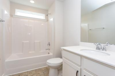 Chesapeake Homes -  The Holly Upstairs Hall Bath
