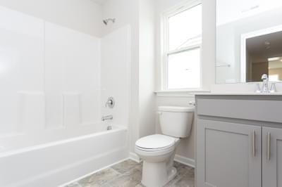 Chesapeake Homes -  The Maple Upstairs Hall Bath