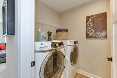 Chesapeake Homes -  The Sierra Laundry Room