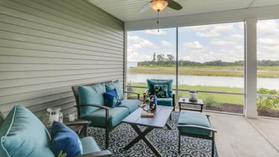 Chesapeake Homes -  The Boardwalk Rear Covered Porch