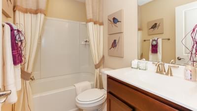 Chesapeake Homes -  The Shorebreak Upstairs Bathroom