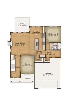Chesapeake Homes -  The Aria First Floor