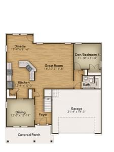Chesapeake Homes -  The Sierra First Floor