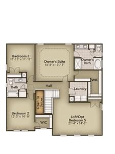Chesapeake Homes -  The Sierra Second Floor