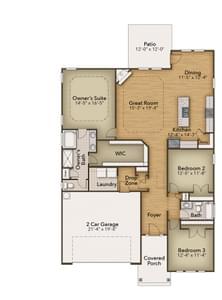 Chesapeake Homes -  The Mandolin First Floor