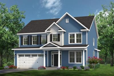 Chesapeake Homes -  The Grace Elevation B - With Opt. Full Porch