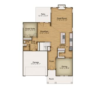 Chesapeake Homes -  The Arietta First Floor