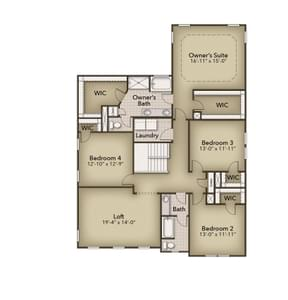 Chesapeake Homes -  The Arietta Second Floor