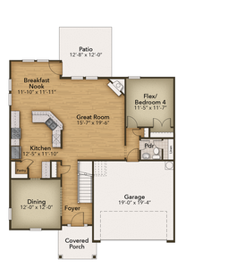 Chesapeake Homes -  The Concerto First Floor