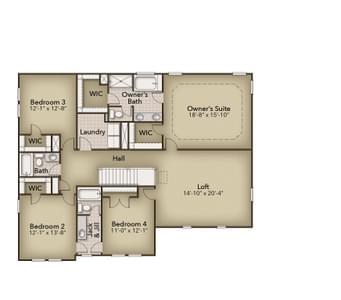 Chesapeake Homes -  The Roseleigh Second Floor