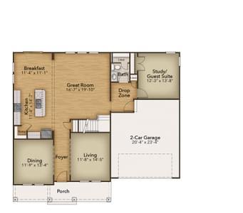 Chesapeake Homes -  The Roseleigh First Floor