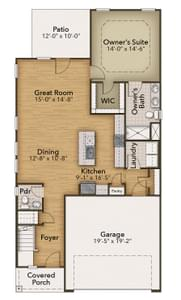Chesapeake Homes -  The Hickory First Floor