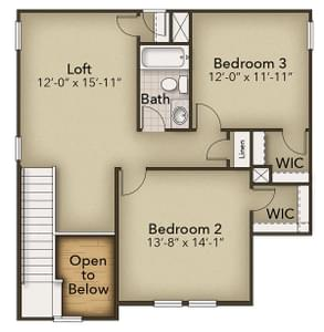Chesapeake Homes -  The Hickory Second Floor