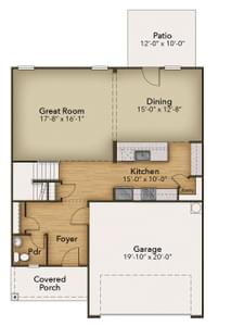 Chesapeake Homes -  The Maple First Floor