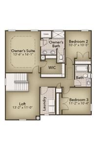 Chesapeake Homes -  The Maple Second Floor