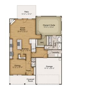Chesapeake Homes -  The Melody First Floor