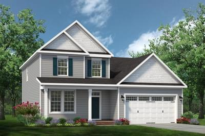 Chesapeake Homes -  The Melody Elevation C w/Optional Full Front Porch